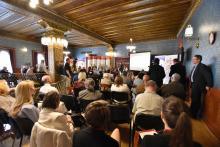 A nemzetközi sajtótájékoztató résztvevői